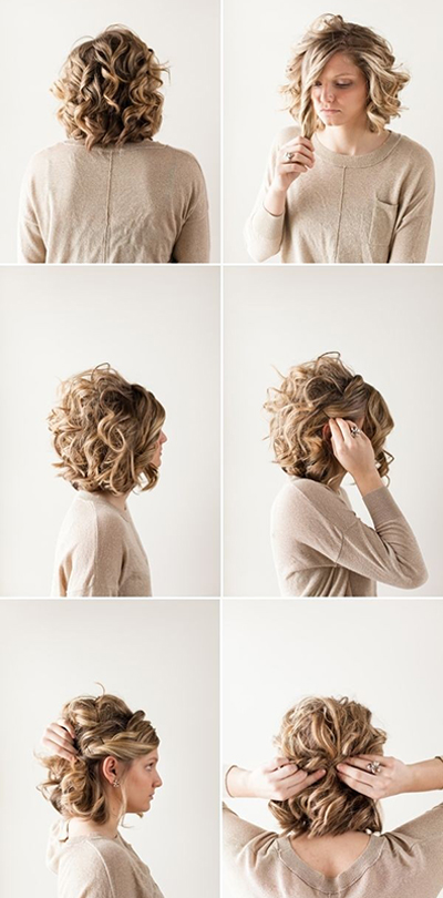 شینیون برای موی کوتاه