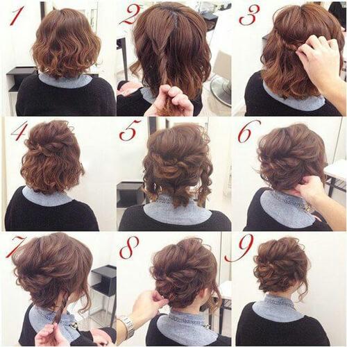 شینیون موی خیلی کوتاه