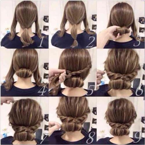 شینیون موی کوتاه برای عروسی