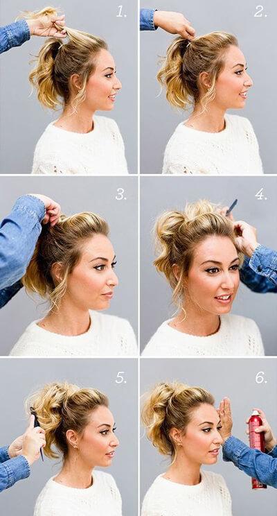 مدل شینیون ساده برای موی کوتاه