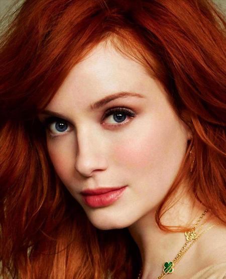 آرایش برای موهای قرمز,آرایش موهای قرمز,آرایش با موهای قرمز