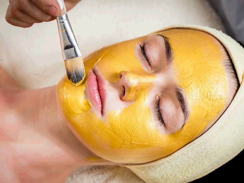 ماسک زرد چوبه برای پوست